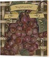 Vintage Fruit Of The Vine Wood Print