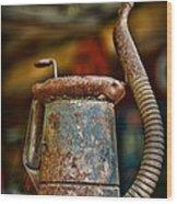 Vintage Garage Oil Can Wood Print