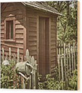 Vintage Garden Wood Print
