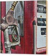 Vintage Gas Pump Wood Print