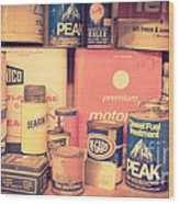 Vintage Gas Service Station Products Wood Print