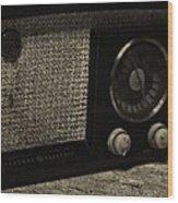 Vintage Ge Radio Wood Print