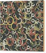Vintage Geometric Circle Segment Pattern Wood Print