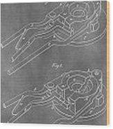 Vintage Glass Mold Patent Wood Print