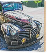 Vintage Gm Truck Frontal Hdr Wood Print