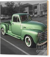 Vintage Green Chevy 3100 Truck Wood Print