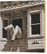 Vintage Haight And Ashbury San Francisco Wood Print by RicardMN Photography