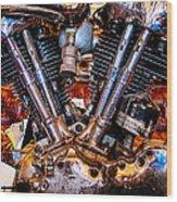 Vintage Harley Knucklehead Wood Print