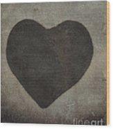 Vintage Heart Wood Print