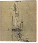 Vintage Helicopter Patent Wood Print