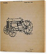 Vintage Henry Ford Tractor Patent Wood Print