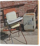 Vintage Highchair Wood Print by Paulette Maffucci