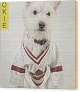 Vintage Hockey Rookie Player Card Wood Print