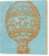 Vintage Hot Air Balloon Wood Print