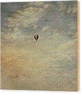 Vintage Hot Air Balloons Wood Print