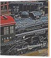 Vintage I C R R No. 790 Wood Print