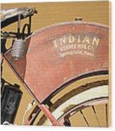 Vintage Indian Bike Wood Print