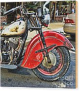 Vintage Indian Motorcycle - Live To Ride Wood Print
