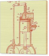 Vintage Internal Combustion Engine Patent 1940 Wood Print