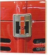 Vintage International Harvester Tractor Badge Wood Print