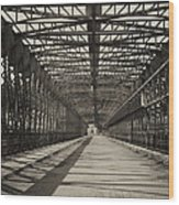 Vintage Iron Truss Bridge Wood Print