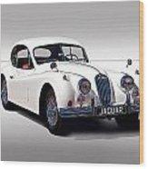 Vintage Jaguar Coupe Wood Print