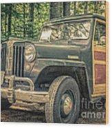 Vintage Jeep Station Wagon Wood Print
