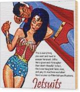 Vintage Jetsuit Advertisement Wood Print