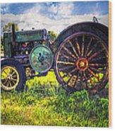Vintage John Deere Wood Print