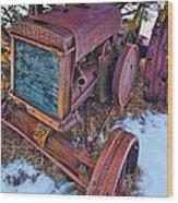 Vintage John Deere Wood Print by Inge Johnsson