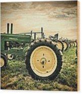 Vintage John Deere Tractors Wood Print
