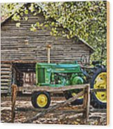 Vintage Wood Print by Kenny Francis