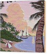 Vintage Key West Travel Poster Wood Print