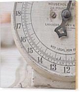 Vintage Kitchen Scale Wood Print