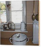 Vintage Kitchenware Wood Print