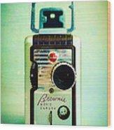 Vintage Kodak Brownie Movie Camera Wood Print