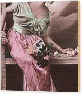 Vintage Lady Rose  Limited Sizes Wood Print