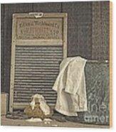 Vintage Laundry Room II By Edward M Fielding Wood Print