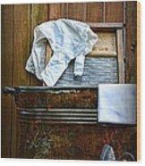 Vintage Laundry Room  Wood Print