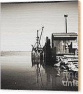 Vintage Lbi Bay Wood Print by John Rizzuto