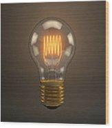 Vintage Light Bulb Wood Print by Scott Norris