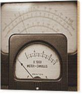 Vintage Light Meter Wood Print by Edward Fielding