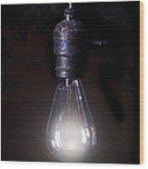 Vintage Lightbulb Wood Print
