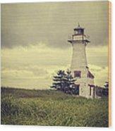 Vintage Lighthouse Pei Wood Print by Edward Fielding