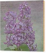 Vintage Lilacs Wood Print