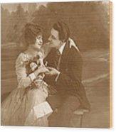 Vintage Lovers Wood Print
