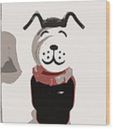 Vintage Lucky Dog Wood Print by Jennifer Rondinelli Reilly - Fine Art Photography