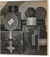Vintage Luggage Wood Print