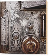 vintage-machinery photograph The Incubator Wood Print by Ann Powell