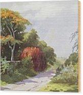 Vintage Manoa Valley Wood Print